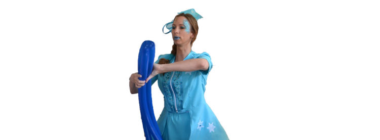 Frozen ballonnenclown
